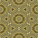 无缝的黄色几何样式 图库摄影