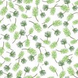 无缝的绿色叶子样式,叶子传染媒介背景 免版税图库摄影
