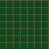 无缝的绿色方格的样式 免版税库存图片