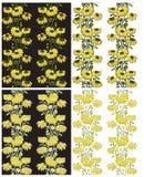 无缝的黄色花卉背景 免版税库存图片