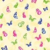 无缝的蝴蝶图案 库存照片