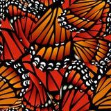 无缝的蝴蝶模式 免版税库存图片