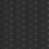 无缝的3D典雅的黑暗的纸艺术样式280星发怒几何 免版税库存照片
