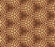 无缝的3D墙纸,与抽象图画,褐色 库存图片