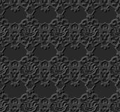 无缝的3D黑暗的纸切开了艺术背景376葡萄酒万花筒 库存图片