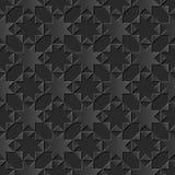 无缝的3D黑暗的纸削减了艺术背景395 octagonn星十字架三角几何 库存例证