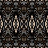 无缝的abtract传染媒介部族样式纹理背景 免版税库存照片