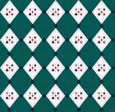 无缝的Argyle格子花呢披肩向量艺术模式 免版税库存图片