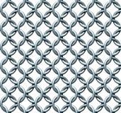 无缝的Chainmail纹理 库存图片