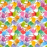 无缝的handprint模式 免版税库存图片