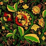 无缝的hohloma花卉样式 免版税库存图片