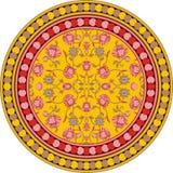 无缝的owesome印地安花卉坛场圈子样式 库存例证