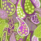 无缝的Pattern.Paisley五颜六色的背景。 免版税库存照片