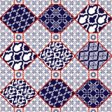无缝的patternwith东方人主题 向量例证