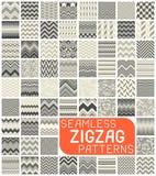 无缝的Z形图案集合 抽象传染媒介雪佛背景 免版税库存照片