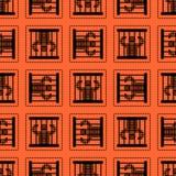 无缝监狱的样式 囚犯在监狱背景中 Perpetrato 皇族释放例证