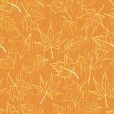 无缝秋叶的模式 向量例证