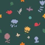 无缝秋天的模式 库存图片