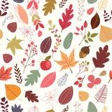 无缝秋天的模式 免版税图库摄影