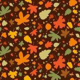 无缝秋天的背景 免版税库存照片
