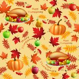 无缝秋天的背景 库存图片