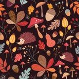 无缝秋季的模式 库存图片