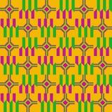 无缝种族的模式 布料kente 库存例证
