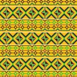 无缝种族的模式 布料kente 免版税库存图片