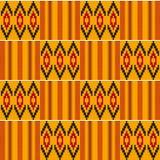 无缝种族的模式 布料kente 免版税图库摄影