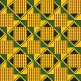 无缝种族的模式 布料kente 皇族释放例证