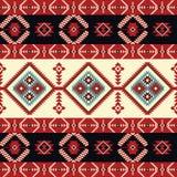 无缝种族的模式 设计几何 库存图片