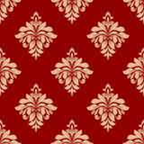 无缝米黄花卉的模式 免版税库存图片