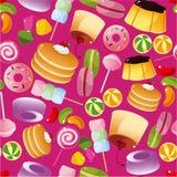 无缝糖果的模式 库存图片