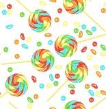 无缝糖果的模式 免版税库存图片
