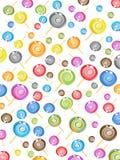 无缝糖果的模式 向量例证