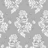无缝经典花卉的模式 免版税图库摄影