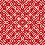 无缝编织的模式 基于传统俄国装饰品 免版税库存照片