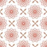 无缝编织桃红色花和四渔花 库存照片