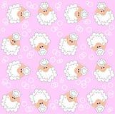 无缝羊羔的模式 库存图片
