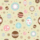 无缝美好的圣诞节设计的模式 库存照片