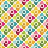 无缝背景五颜六色的几何的模式 皇族释放例证