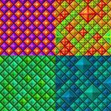 无缝背景五颜六色的几何的模式 免版税库存照片