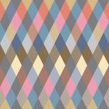 无缝背景五颜六色的模式的菱形 库存照片