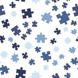 无缝背景五颜六色的模式的难题 在空白背景查出的向量例证 免版税库存照片