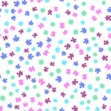 无缝背景五颜六色的模式的难题 在空白背景查出的向量例证 图库摄影