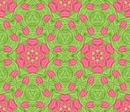 无缝背景五颜六色的花卉的模式 库存照片