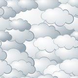 无缝背景的云彩 免版税库存图片