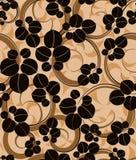 无缝背景的叶子 免版税图库摄影