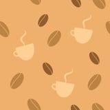 无缝背景的咖啡 免版税库存图片