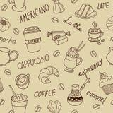 无缝背景的咖啡 免版税库存照片